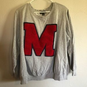 Varsity Style Crewneck Sweater